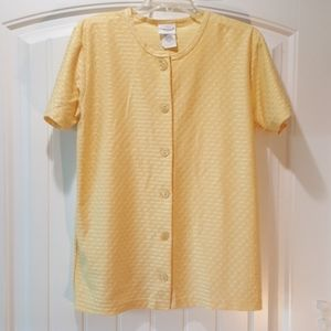 *BOBBIE BROOKS* Buttery Yellow Button-Down Top (S)